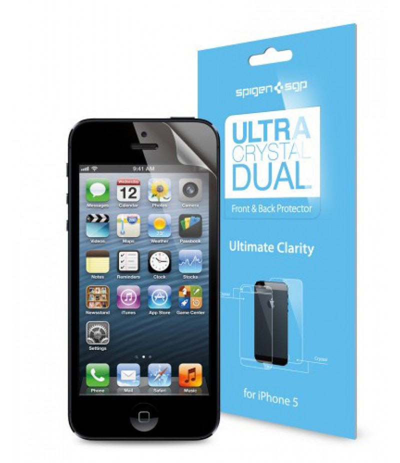 Защитная пленка для iPhone 5/5S SGP Steinheil Dual Ultra Crystal