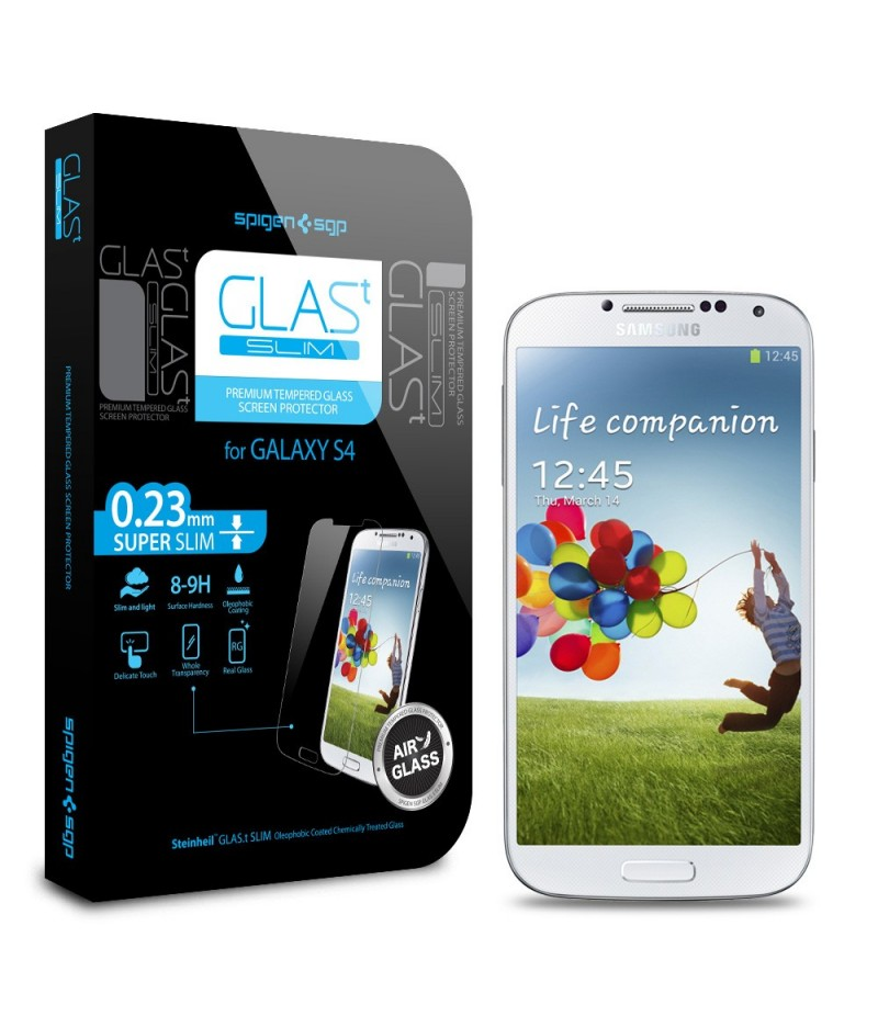 Защитная пленка Screen Protector GLAS.t SLIM Premium Tempered Glass  для Galaxy S4