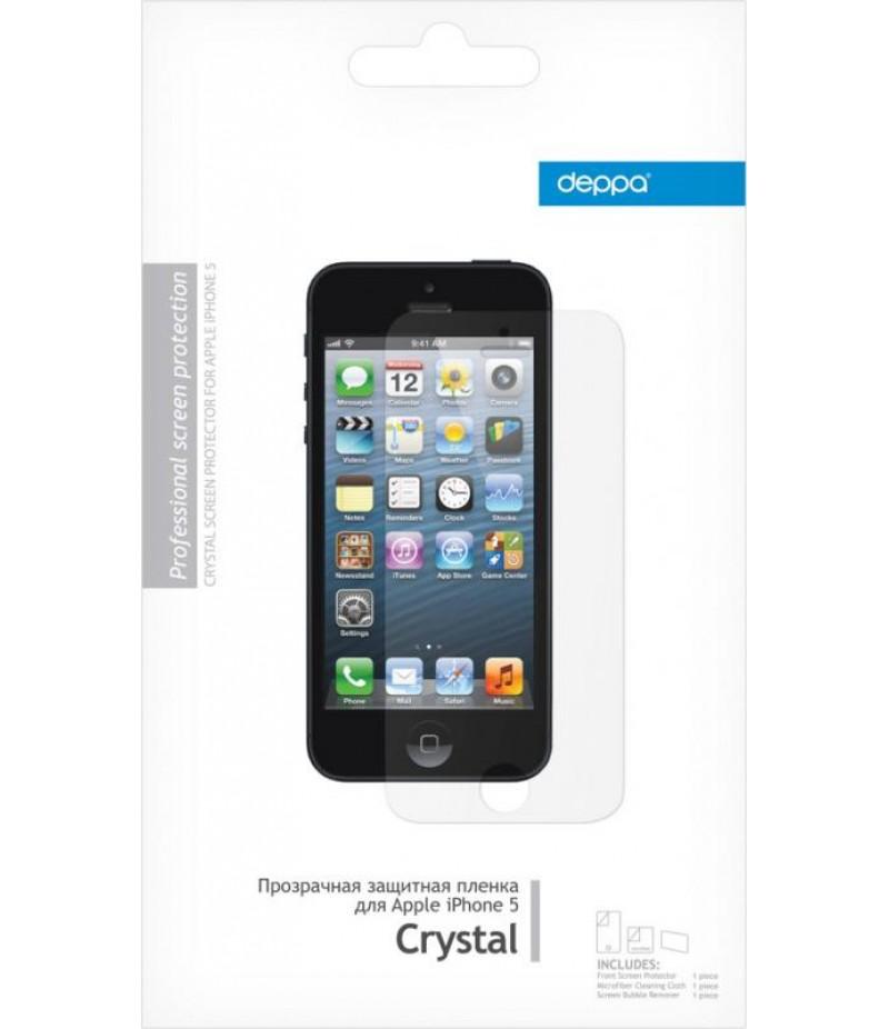 Защитная пленка для iPhone 5/5S Deppa Crystal