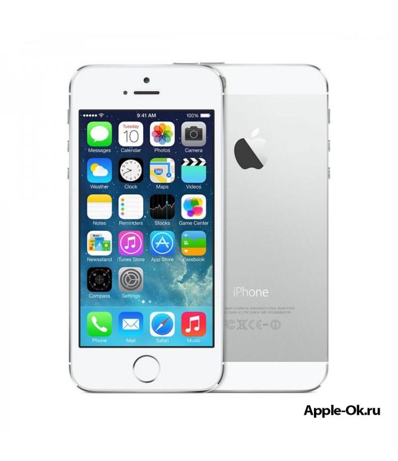 Apple iPhone 5S 16Gb Silver (A1530) + Автокомплект