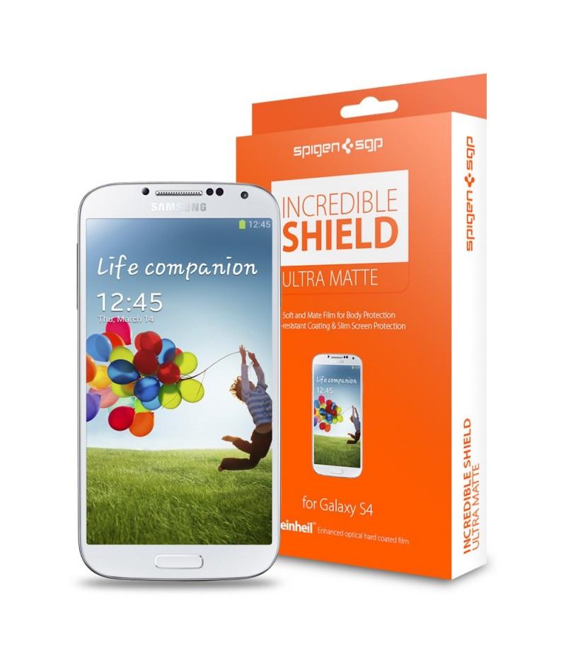 Защитная пленка Screen & Body Protector Incredible Shield Transparency Ultra Matte для Galaxy S4