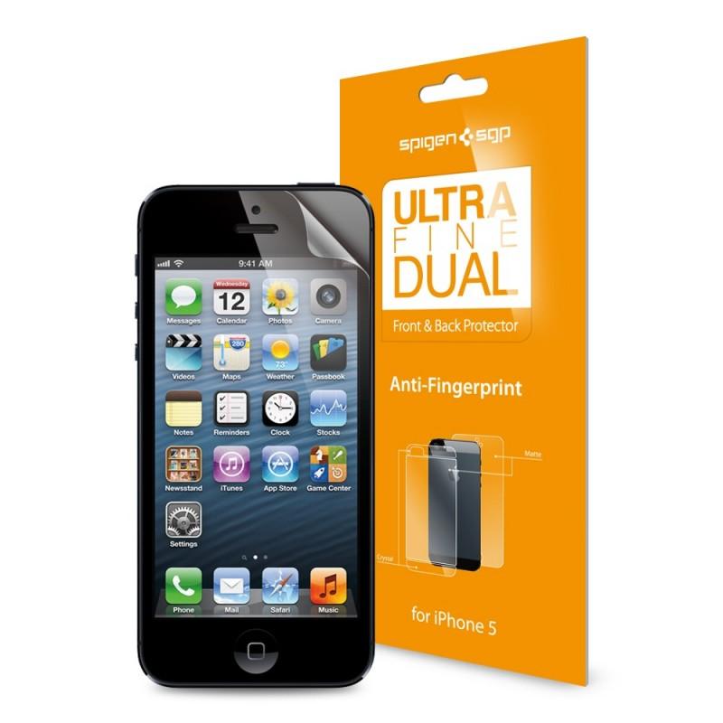 Защитная пленка для iPhone 5/5S SGP Steinheil Dual Ultra Fine