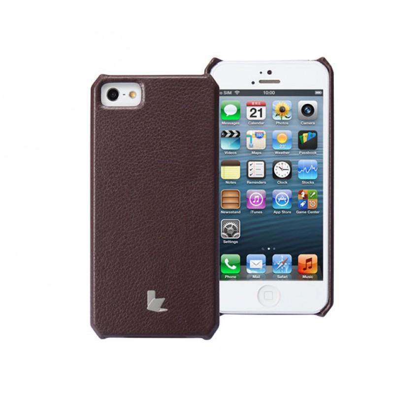 Чехол для iPhone 5/5S Jison Wallet Dark Brown