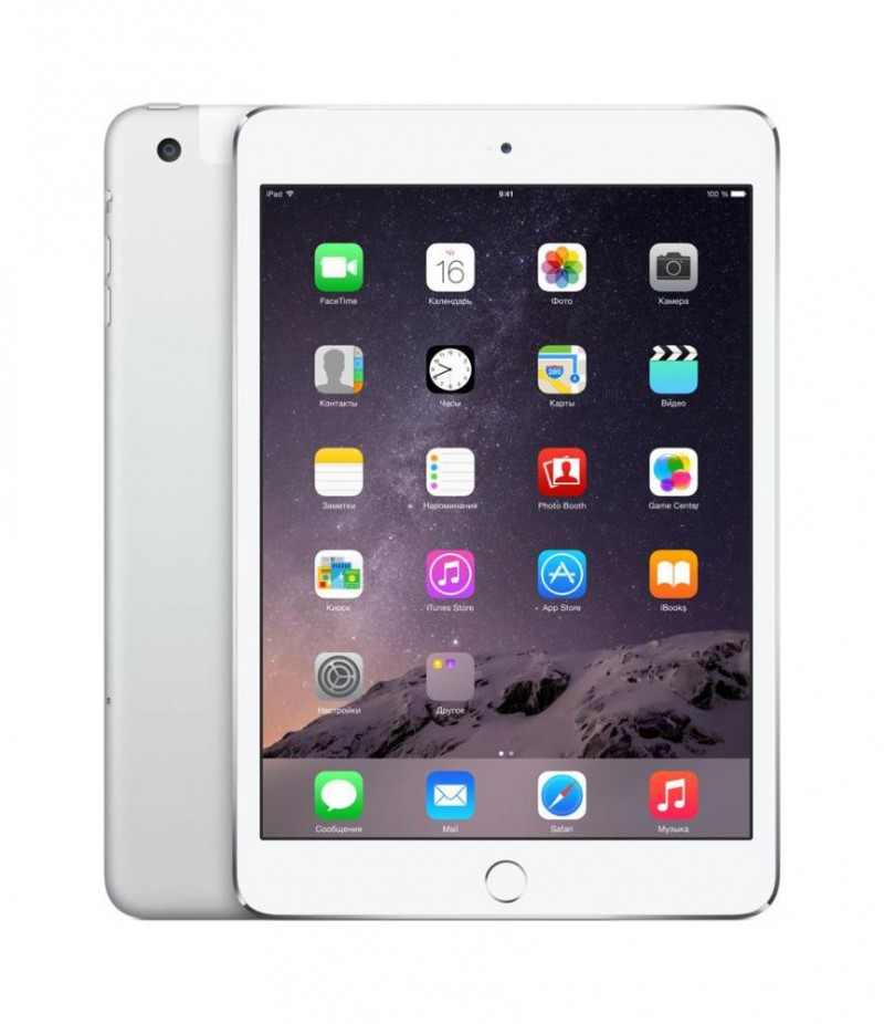 Apple iPad mini 3 Wi-Fi + Cellular 128GB Silver