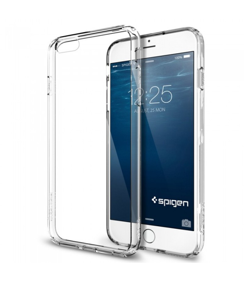Прозрачный силиконовый чехол для iPhone 6/6s (не портит вид, не скользит в руке)