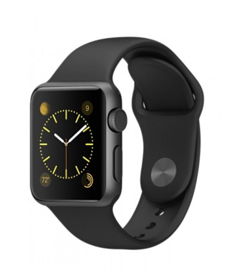 Apple Watch Sport 38мм Space Gray Черный ремешок