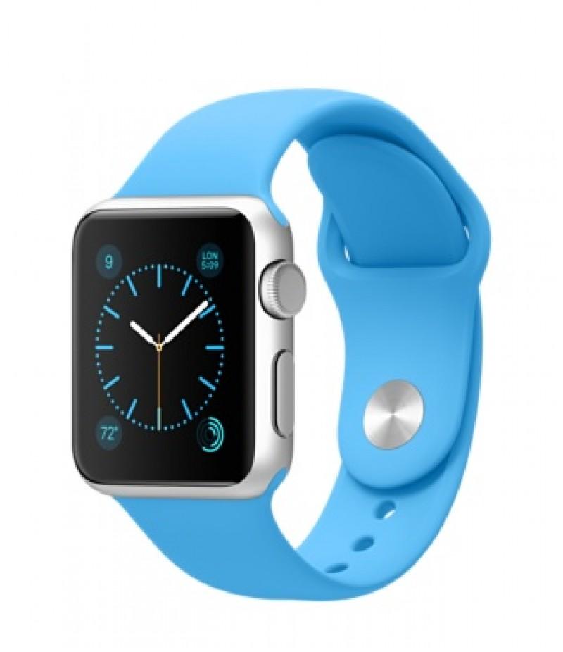 Apple Watch Sport 38мм Silver Голубой ремешок