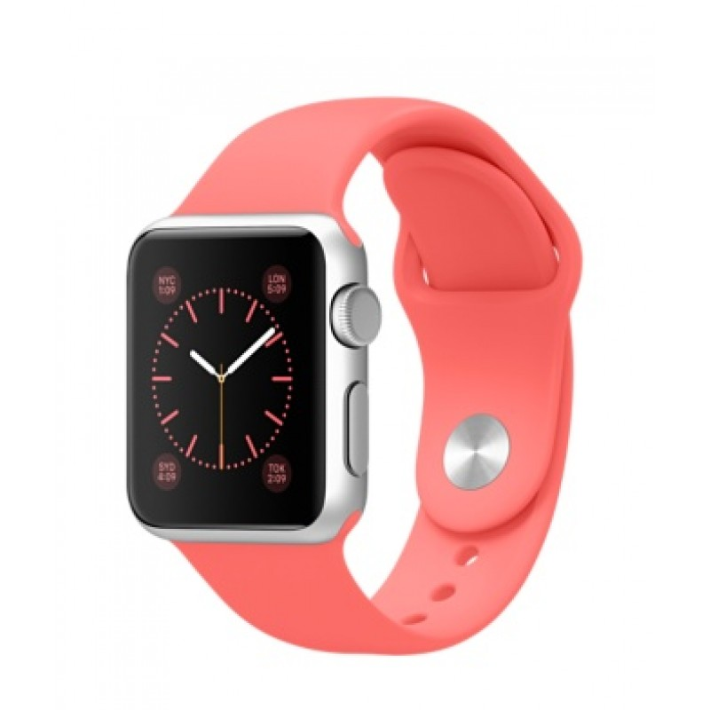 Apple Watch Sport 38мм Silver Коралловый ремешок