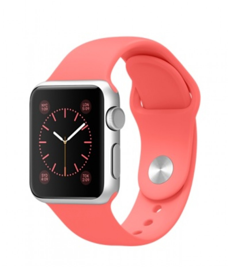 Apple Watch Sport 38мм Silver Коралловый ремешок