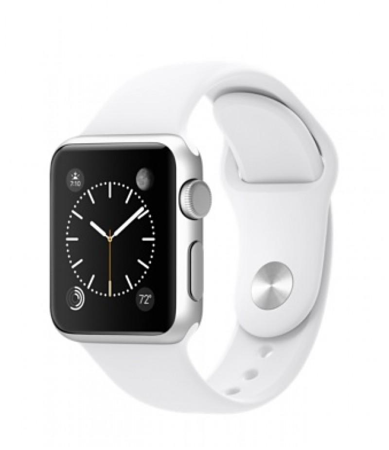 Apple Watch Sport 38мм Silver Белый ремешок