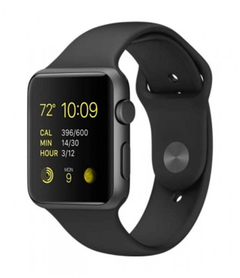 Apple Watch Sport 42мм Space Gray Черный ремешок