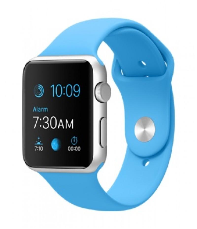 Apple Watch Sport 42мм Silver Голубой ремешок