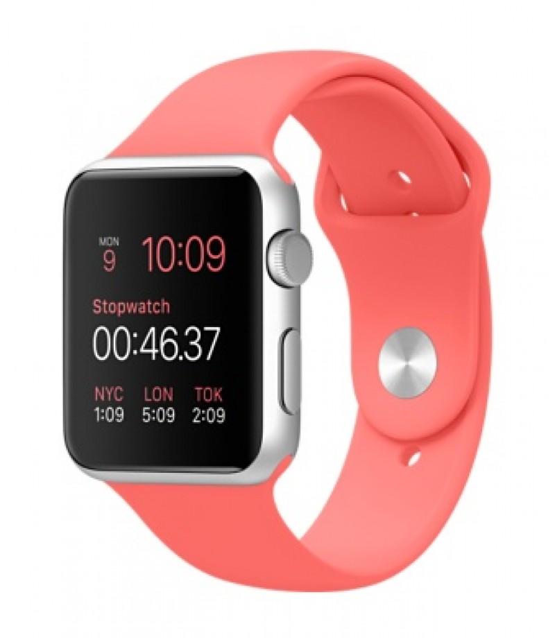 Apple Watch Sport 42мм Silver Коралловый ремешок