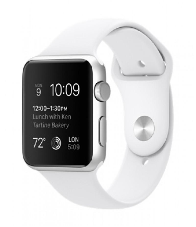 Apple Watch Sport 42мм Silver Белый ремешок