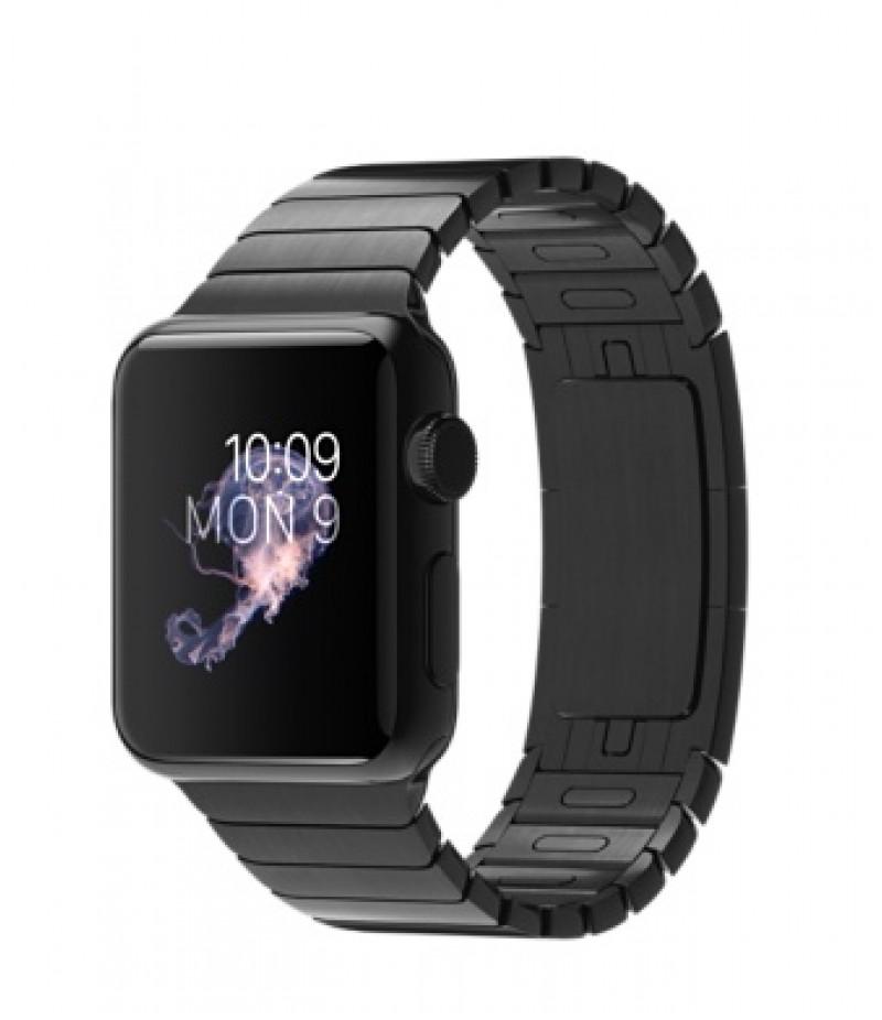 Apple Watch 38мм Stainless Steel Space Gray Блочный браслет