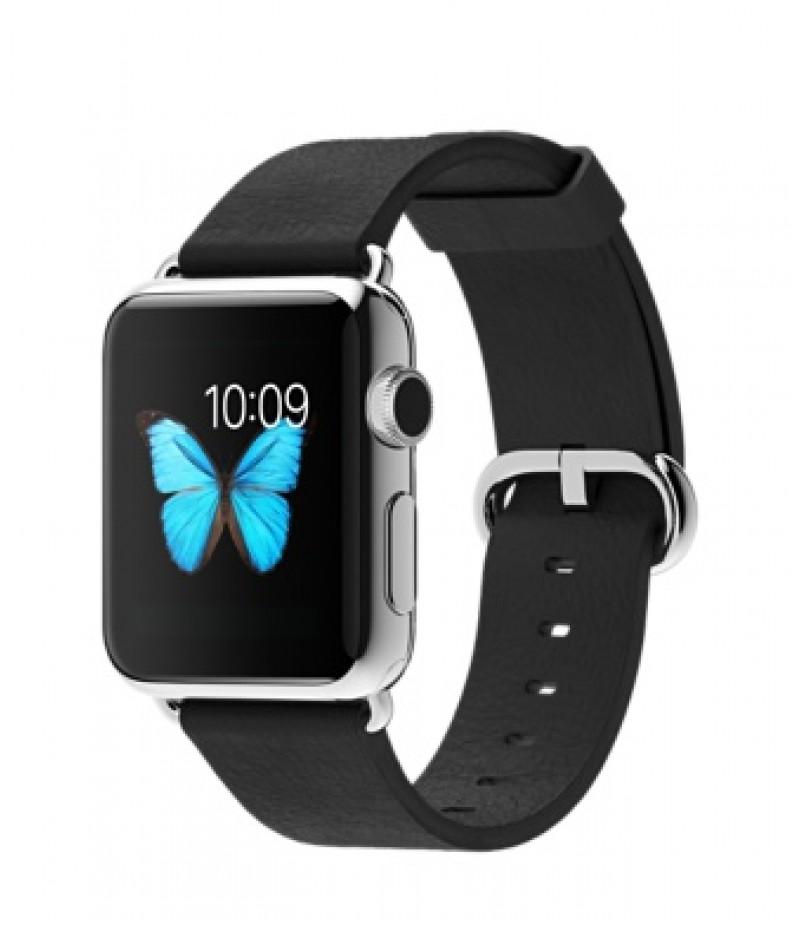Apple Watch 38мм Stainless Steel Черный ремешок с классической пряжкой