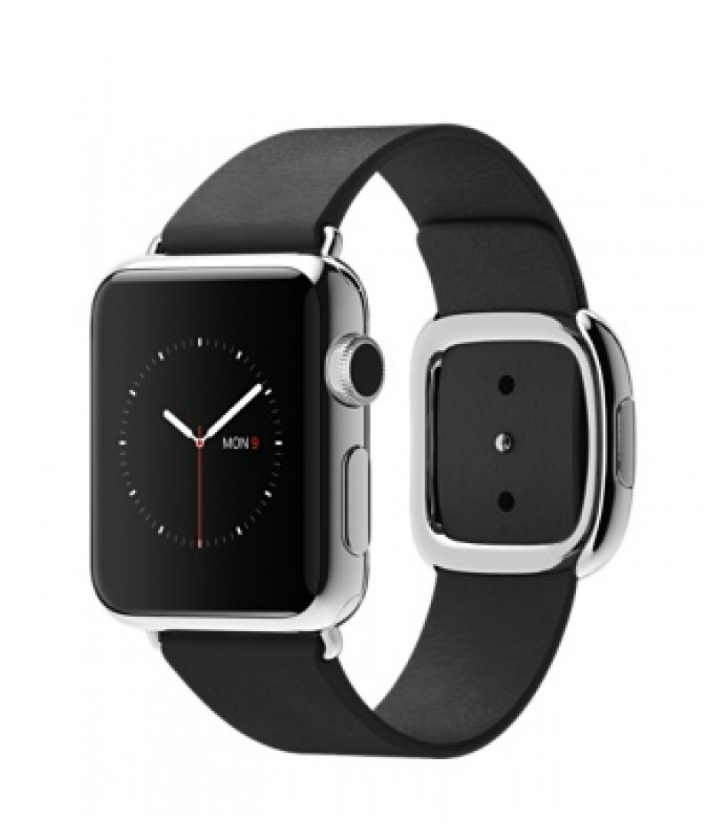 Apple Watch 38мм Stainless Steel Черный ремешок с современной пряжкой