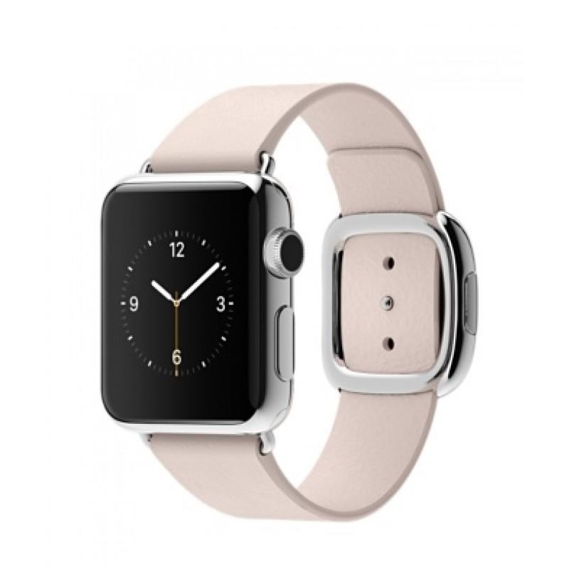 Apple Watch 38мм Stainless Steel Бледно-розовый ремешок с современной пряжкой