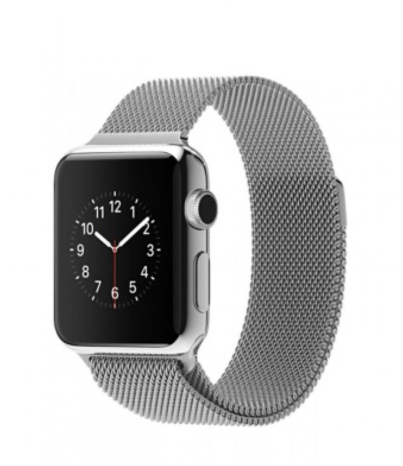 Apple Watch 38мм Stainless Steel Миланский сетчатый браслет
