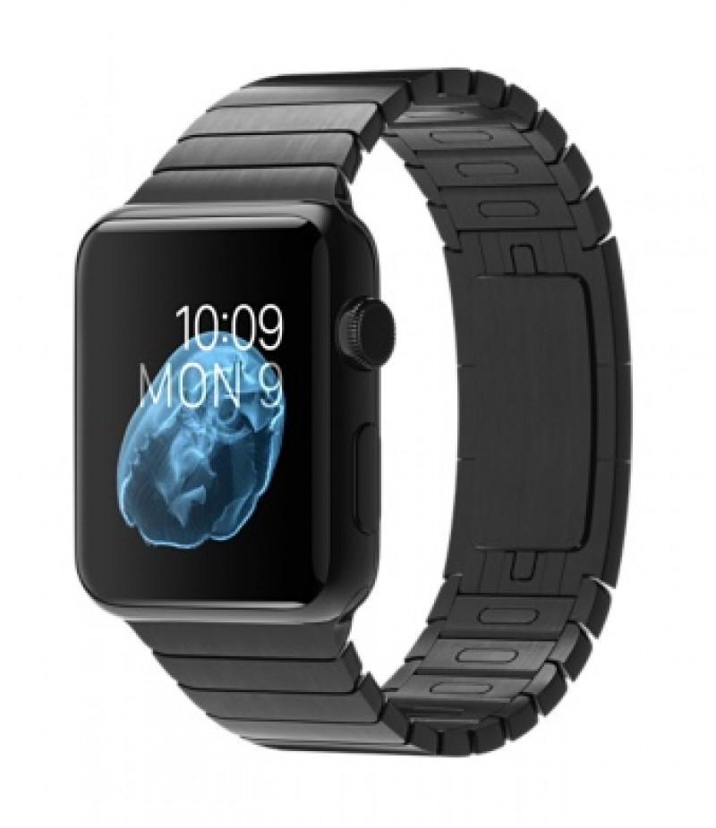 Apple Watch 42мм Stainless Steel Space Gray Блочный браслет