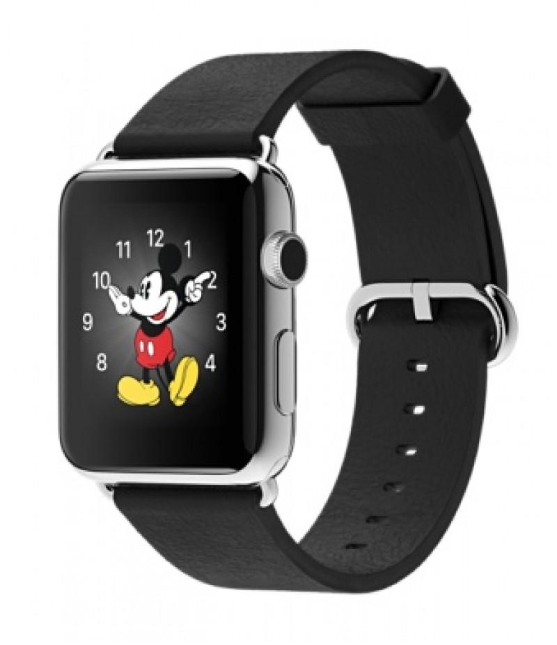 Apple Watch 42мм Stainless Steel Черный ремешок с классической пряжкой