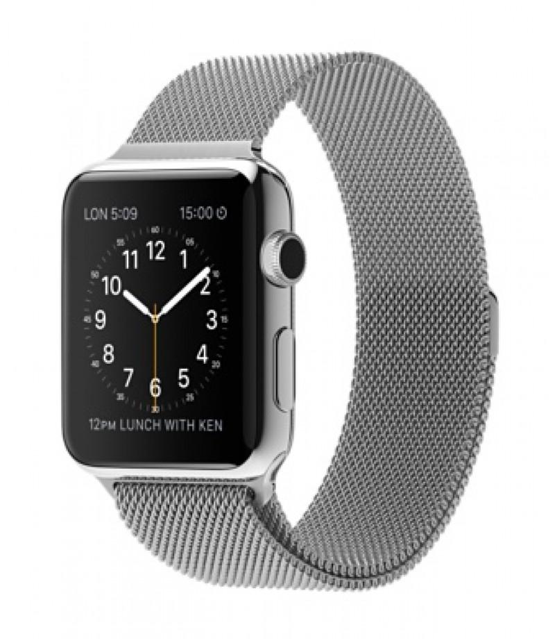 Apple Watch 42мм Stainless Steel Миланский сетчатый браслет